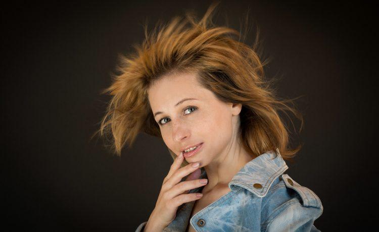 Fluttering Hair, Woman, Portrait, Wind, Smile, GirlFluttering Hair Woman Portrait Wind Smile Girl