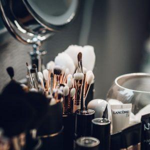 Glass Makeup Cosmetics Woman Face Portrait