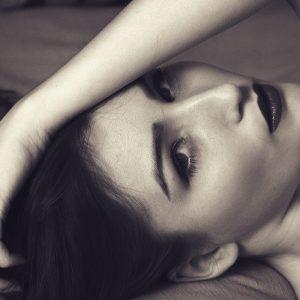 Woman Beauty Monochrome Makeup Face Glamour